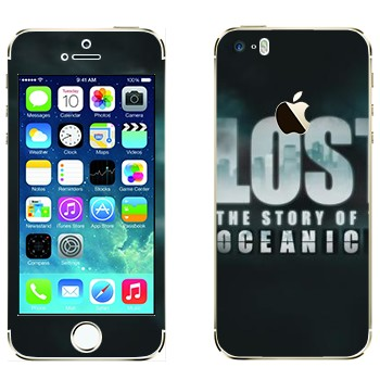 Виниловая наклейка «Lost : The Story of the Oceanic» на телефон Apple iPhone 5S