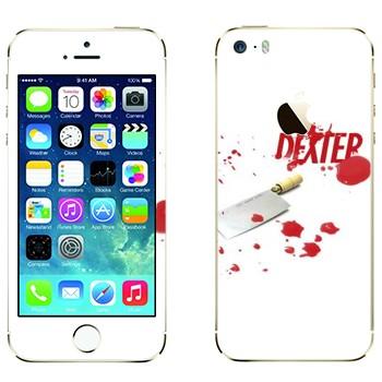 Виниловая наклейка «Декстер» на телефон Apple iPhone 5S