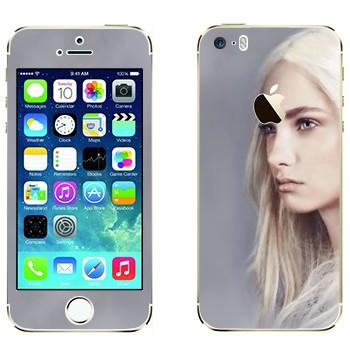 Виниловая наклейка «Девушка - Игра престолов» на телефон Apple iPhone 5S