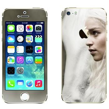 Виниловая наклейка «Дейнерис Таргариен - Игра престолов» на телефон Apple iPhone 5S