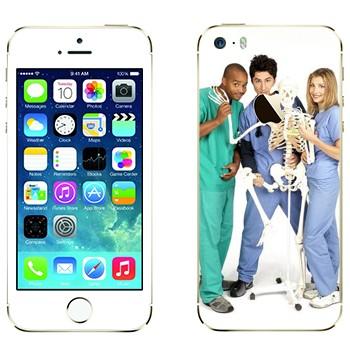 Виниловая наклейка «Клиника сериал» на телефон Apple iPhone 5S