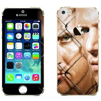 Виниловая наклейка «Майкл Скофилд и Линкольн Берроуз - Побег из тюрьмы» на телефон Apple iPhone 5S