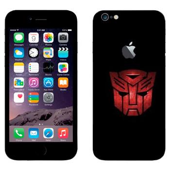 Виниловая наклейка «Автоботы эмблема красная» на телефон Apple iPhone 6 Plus/6S Plus