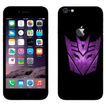 Виниловая наклейка «Десептиконы эмблема фиолетовая» на телефон Apple iPhone 6 Plus/6S Plus