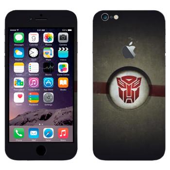 Виниловая наклейка «Эмблема Автоботов» на телефон Apple iPhone 6 Plus/6S Plus