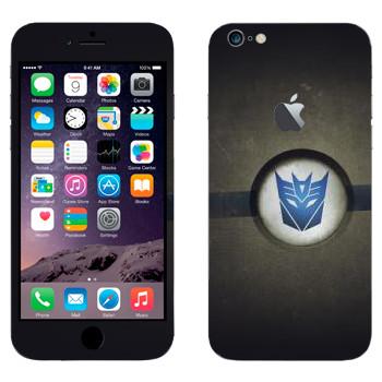 Виниловая наклейка «Эмблема Десептиконов» на телефон Apple iPhone 6 Plus/6S Plus