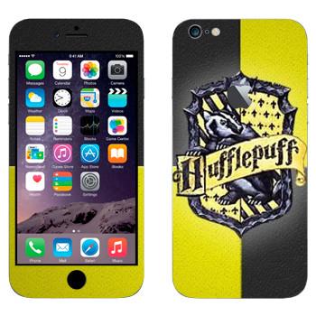 Виниловая наклейка «Герб Пуффендуя - Гарри Поттер» на телефон Apple iPhone 6 Plus/6S Plus