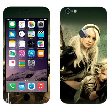 Виниловая наклейка «Главные героини - Запрещённый приём» на телефон Apple iPhone 6 Plus/6S Plus
