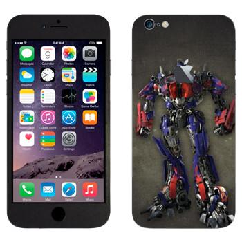 Виниловая наклейка «Оптимус - Трансформеры» на телефон Apple iPhone 6 Plus/6S Plus