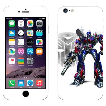 Виниловая наклейка «Оптимус Прайм - Трансформеры» на телефон Apple iPhone 6 Plus/6S Plus
