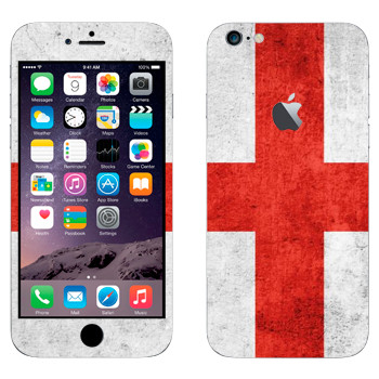 Виниловая наклейка «Флаг Англии» на телефон Apple iPhone 6 Plus/6S Plus