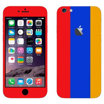 Виниловая наклейка «Флаг Армении вертикальный» на телефон Apple iPhone 6 Plus/6S Plus