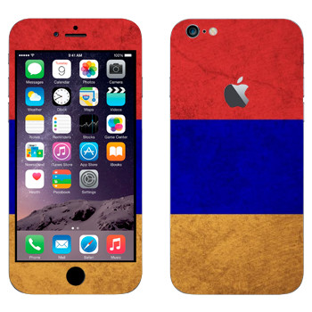 Виниловая наклейка «Флаг Армении» на телефон Apple iPhone 6 Plus/6S Plus