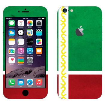 Виниловая наклейка «Флаг Чечни» на телефон Apple iPhone 6 Plus/6S Plus