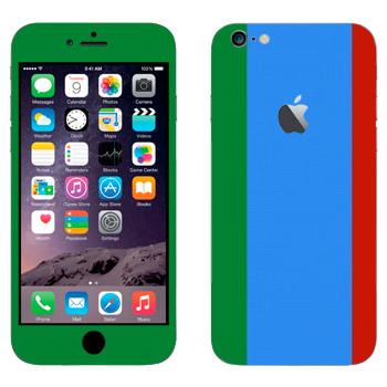 Виниловая наклейка «Флаг Дагестана вертикальный» на телефон Apple iPhone 6 Plus/6S Plus
