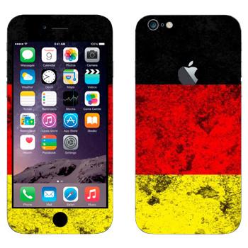 Виниловая наклейка «Флаг Германии» на телефон Apple iPhone 6 Plus/6S Plus