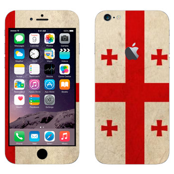Виниловая наклейка «Флаг Грузии» на телефон Apple iPhone 6 Plus/6S Plus