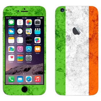 Виниловая наклейка «Флаг Ирландии» на телефон Apple iPhone 6 Plus/6S Plus