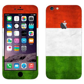 Виниловая наклейка «Флаг Италии горизонтальный» на телефон Apple iPhone 6 Plus/6S Plus