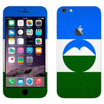 Виниловая наклейка «Флаг Кабардино-Балкарии» на телефон Apple iPhone 6 Plus/6S Plus