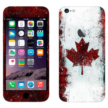 Виниловая наклейка «Флаг Канады» на телефон Apple iPhone 6 Plus/6S Plus