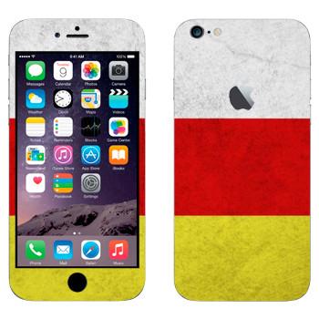 Виниловая наклейка «Флаг Осетии» на телефон Apple iPhone 6 Plus/6S Plus