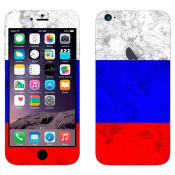 Виниловая наклейка «Флаг России» на телефон Apple iPhone 6 Plus/6S Plus