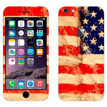 Виниловая наклейка «Флаг Соединенных Штатов Америки» на телефон Apple iPhone 6 Plus/6S Plus