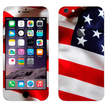 Виниловая наклейка «Флаг США» на телефон Apple iPhone 6 Plus/6S Plus