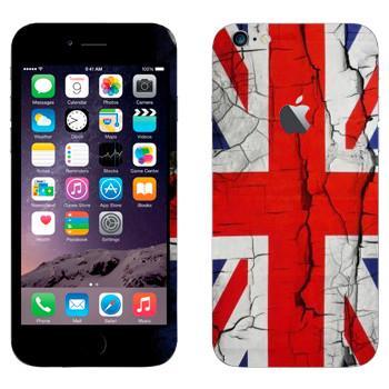 Виниловая наклейка «Флаг Великобритании потрескавшейся краской» на телефон Apple iPhone 6 Plus/6S Plus