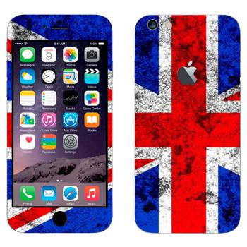 Виниловая наклейка «Флаг Великобритании с пятнами» на телефон Apple iPhone 6 Plus/6S Plus