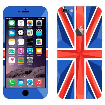 Виниловая наклейка «Флаг Великобритании» на телефон Apple iPhone 6 Plus/6S Plus