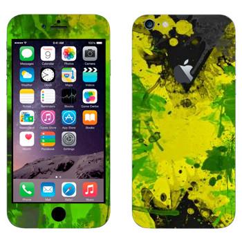 Виниловая наклейка «Флаг Ямайки акварелью» на телефон Apple iPhone 6 Plus/6S Plus