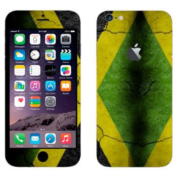 Виниловая наклейка «Флаг Ямайки на асфальте» на телефон Apple iPhone 6 Plus/6S Plus