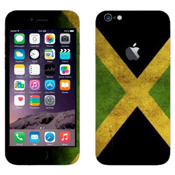 Виниловая наклейка «Флаг Ямайки» на телефон Apple iPhone 6 Plus/6S Plus