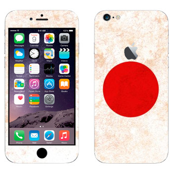 Виниловая наклейка «Флаг Японии» на телефон Apple iPhone 6 Plus/6S Plus
