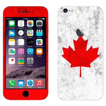 Виниловая наклейка «Канада флаг» на телефон Apple iPhone 6 Plus/6S Plus