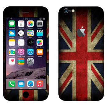 Виниловая наклейка «Флаг Великобритании застаренный» на телефон Apple iPhone 6 Plus/6S Plus