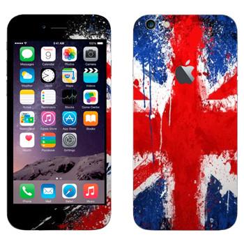 Виниловая наклейка «Флаг Великобритании краской» на телефон Apple iPhone 6 Plus/6S Plus