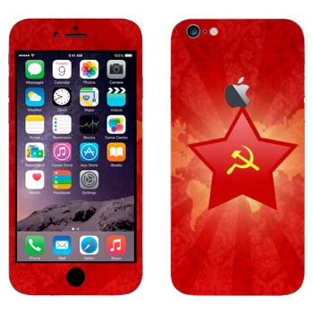 Виниловая наклейка «Звезда с серпом и молотом» на телефон Apple iPhone 6 Plus/6S Plus