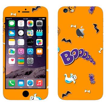 Виниловая наклейка «Бууу - Хэллоуин» на телефон Apple iPhone 6 Plus/6S Plus