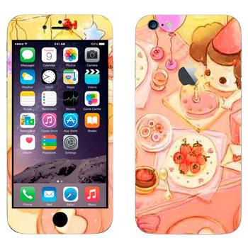 Виниловая наклейка «День рождения» на телефон Apple iPhone 6 Plus/6S Plus