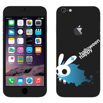 Виниловая наклейка «Хэллоуиновский кролик» на телефон Apple iPhone 6 Plus/6S Plus