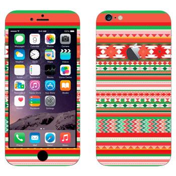Виниловая наклейка «Хипстерский новогодний узор» на телефон Apple iPhone 6 Plus/6S Plus