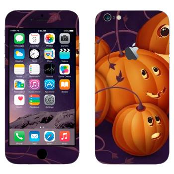 Виниловая наклейка «Няшные тыковки - Хэллоуин» на телефон Apple iPhone 6 Plus/6S Plus