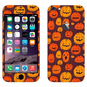 Виниловая наклейка «Разные тыквы к Хэллоуину» на телефон Apple iPhone 6 Plus/6S Plus