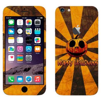Виниловая наклейка «Тыква Happy Halloween» на телефон Apple iPhone 6 Plus/6S Plus