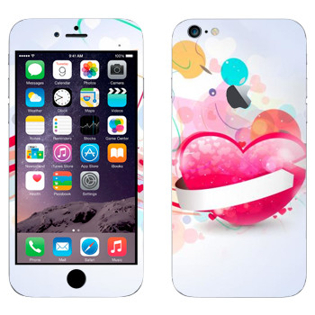 Виниловая наклейка «Валентинки - День святого Валентина» на телефон Apple iPhone 6 Plus/6S Plus