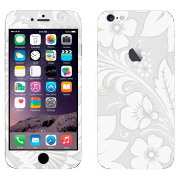 Виниловая наклейка «Хохлома белая» на телефон Apple iPhone 6 Plus/6S Plus