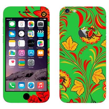 Виниловая наклейка «Хохлома осенние цветы» на телефон Apple iPhone 6 Plus/6S Plus